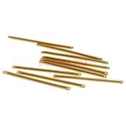 Коннектор металлический 3,8 см под золото