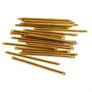 Коннектор металлический 3,4 см под золото