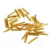 Коннектор металлический 1 см под золото