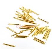 Коннектор металлический 1,5 см под золото
