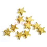 Подвеска металлическая под золото Звезда 1 см
