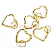 Подвеска сердце под золото 2,4 см