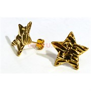 Серьги (KL-01) Звезды под золото