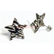 Серьги (KL-01) Звезды под серебро