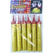 Набор свеча фейерверк золотая (602) для торта 12 см 300 шт/кор