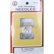 Набор иголок (304) 12 шт/уп Self-Threading Needles 360 наборов/коробка