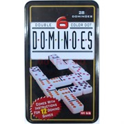 Игра Домино Dominoes Double Color Dot 60 шт/кор