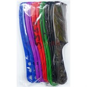Набор цветных (5552) расчесок с ручкой 10 шт/уп 1200 шт/кор