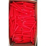 Трубка поп тьюб антистресс 14x2 см красная 1000 шт/кор