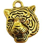 Подвеска амулет Тигр символ 2022 года под золото