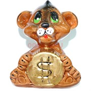 Копилка из полистоуна Тигр с монетой Символ 2022 года