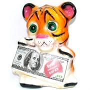 Копилка из полистоуна Тигр с купюрой Символ 2022 года