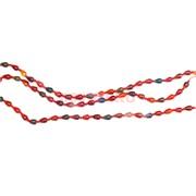 Бусины на нитке капля 33 шт из красного агата 37 см