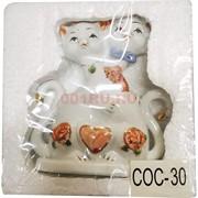 Фигурка Кошки парная (COC-30) из фарфора 13 см