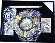 Набор подарочный Wolf «ручка, брелок, пепельница, зажигалка»