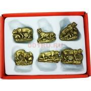 Тигры из полистоуна малый набор из 6 шт символ 2022 года