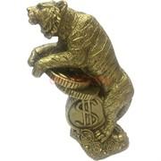 Тигр символ 2022 года (NS-508) стоящий на деньгах из полистоуна