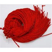 Нить красная для шнурка гайтана 65 см шелковая