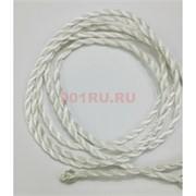 Шнурок нить белая 120 см для пояса шелковая