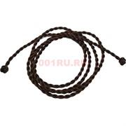 Шнурок нить коричневая 120 см для пояса шелковая