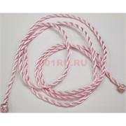 Шнурок нить розовая 120 см для пояса шелковая