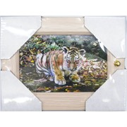 Ключница (19x24 см) деревянная Тигр Символ 2022 года
