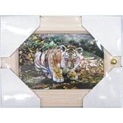 Ключница (23x23 см) деревянная Тигр Символ 2022 года