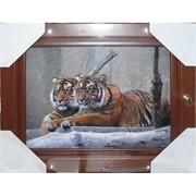 Ключница (36x24 см) деревянная Тигр Символ 2022 года