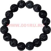 Браслет из черного кахалонга 12 мм (натуральный камень)