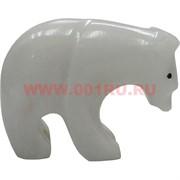 Белый медведь из белого оникса 4 см (2 дюйма)