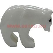 Белый медведь из белого оникса 5,2 см (2,5 дюйма)