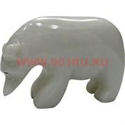 Белый медведь из белого оникса 5,5 см (3 дюйма)