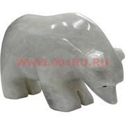 Белый медведь из белого оникса 6,5 см (4 дюйма)