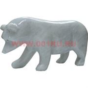 Белый медведь из белого оникса 10,5 см (8 дюймов)