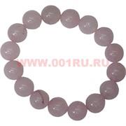 Браслет из розового кварца 12 мм (натуральный камень)