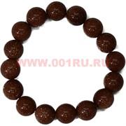 Браслет из коричневого авантюрина 12 мм (натуральный камень)