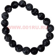 Браслет из обсидиана 10 мм (натуральный камень)