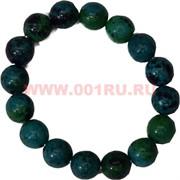 Браслет из хризаколлы 12 мм (натуральный камень)
