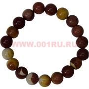 Браслет из коричневой яшмы 10 мм (натуральный камень)