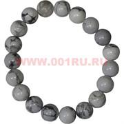 Браслет из белого кахалонга 10 мм (натуральный камень)