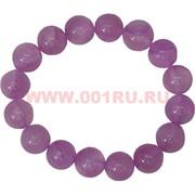 Браслет из розового агата 12 мм (натуральный камень)