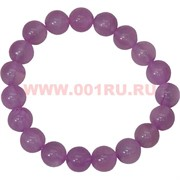 Браслет из розового агата 10 мм (натуральный камень)