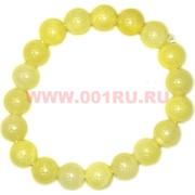 Браслет из лимонного агата 10 мм (прессовка)