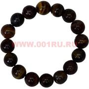 Браслет из тигрового глаза 12 мм (натуральный камень)