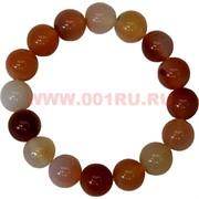 Браслет из сердолика 12 мм (натуральный камень)