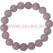 Браслет из розового кварца 10 мм (натуральный камень)