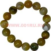 Браслет из светлого агата 12 мм (натуральный камень)