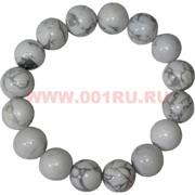 Браслет из белого кахалонга 12 мм (натуральный камень)