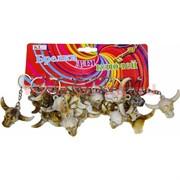 Брелок (KL-652) череп с рогами под кость, цена за 120 шт (2400 шт/кор)