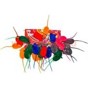 """Брелок """"Мышка"""" цветная пищит (KLR-7) из полимерных материалов"""